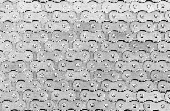 Abstract pattern made of roller chain