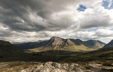 dramatic scenery in the scottish highlands