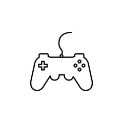 gamepad, joystick, controller playstation line icon. Simple line games icon. Can be used as web element, playing design icon