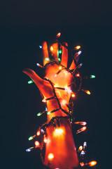 Twisted Christmas Lights on Arm
