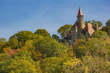 Castle on Hilltop in Fall