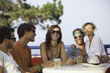 Friends During Summer Aperitif