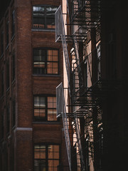 Outside stairs in Manhattan - New York City