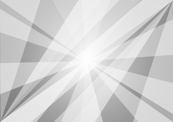 Gray and white abstract geometric background