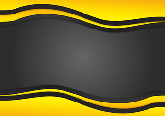 Black and yellow triangle is overlap modern design, vector abstract background