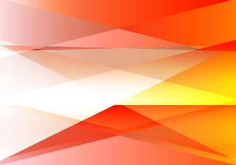 Orange and gray triangle abstract background, vector illustration