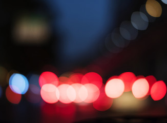 blurred light abstract nightlife