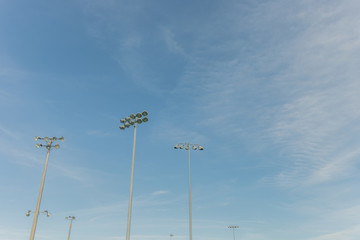 Giant Outdoor Lighting over Sports Field
