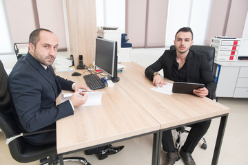 Business Team Talking in Office