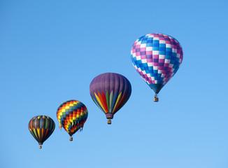 Traveling hot air balloons