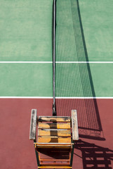 Tennis Umpires line chair from above