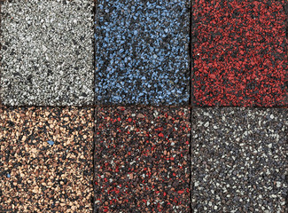 Asphalt shingles samples
