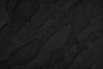 Stone black background, Texture dark gray surface luxury blank for design Wall mural