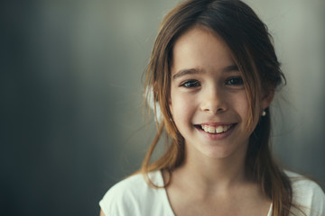 Portrait of a smiling little girl