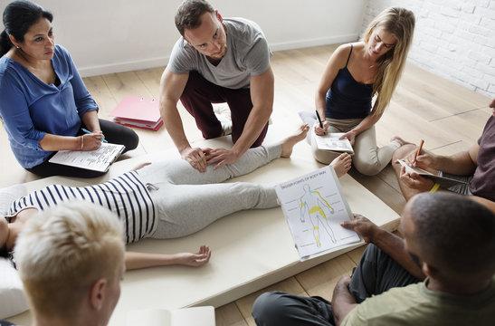 Health Wellness Massage Training Concept