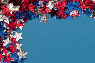 Red, White and Blue Stars Background