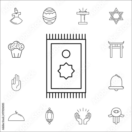 Prayer rug icon  Set of religion icons  Web Icons Premium quality