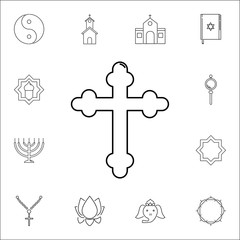 cross icon. Set of religion icons. Web Icons Premium quality graphic design. Signs, outline symbols collection, simple icons for websites, web design, mobile app