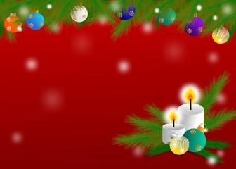 Christmas theme design for greeting card