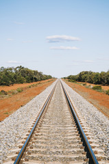 Train tracks near Conoble, New South Wales, Australia.