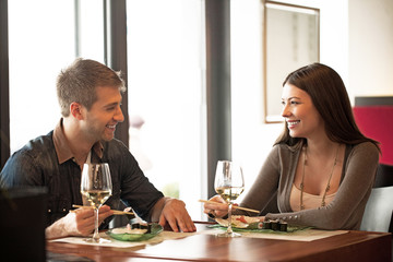 Couple at a Restaurant