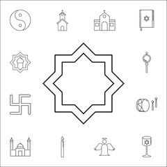 Eight point star icon. Set of religion icons. Web Icons Premium quality graphic design. Signs, outline symbols collection, simple icons for websites, web design, mobile app