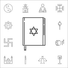 Talmud icon. Set of religion icons. Web Icons Premium quality graphic design. Signs, outline symbols collection, simple icons for websites, web design, mobile app