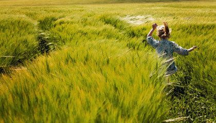 Running through fields of barley