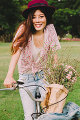 Beautiful Woman on Bicycle