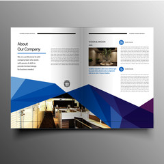 Clean company advertising brochure design