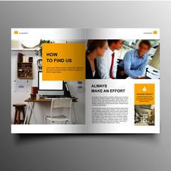 Modern company brochure template design