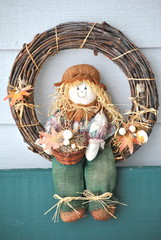 Halloween decoration displayed outdoors for the holiday season.
