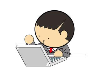 businessman desk work