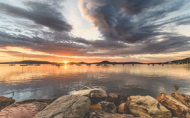 Sunrise and Clouds - Waterscape over the Bay