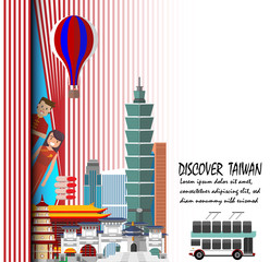 Discover Taiwan. Travel to Taiwan presentation template.