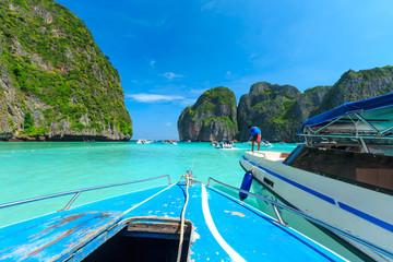 MAYA BAY one of the most beautiful beaches of Phuket province Thailand.