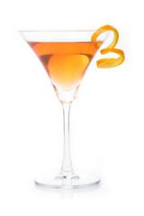 cosmopolitan cocktail in white background