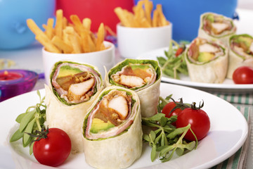Wrap sandwiches for party food