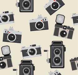 retro camera pattern