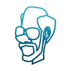 Adult man cartoon icon vector illustration graphic design