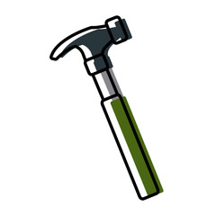 Hammer construction tool icon vector illustration graphic design