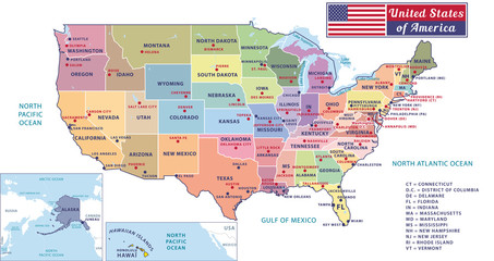 Search Photos By Albachiaraa - Usa map with capitals and major cities