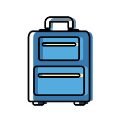 Travel luggage isolated icon vector illustration graphic design