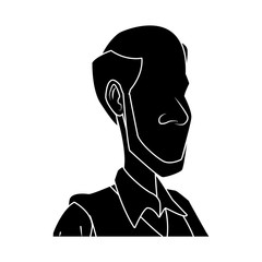 Adult man cartoon icon vector illustration graphic design