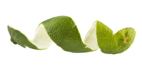 skin lime isolated on white background