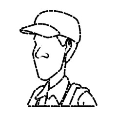 Man with hat icon vector illustration graphic design