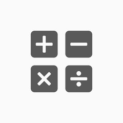 calculation, calculator icon