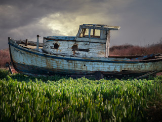 Acrylic Prints Shipwreck Rusty boat