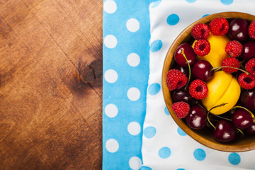 Ripe berries in a plate