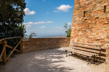 La casa natale di Giacomo Leopardi, centro storico di Recanati, Macerata, Marche, Italia